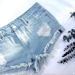 Denim Cut-off Shorts